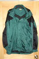 BASS PRO SHOPS -Mens Rain Jacket Hooded Green/Black breathable - Sz. 3XL
