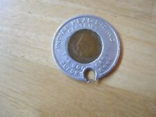 1891 U.S. Indian Head Cent Encased Coin,Indian Head Brand Clothing, Penny Coin
