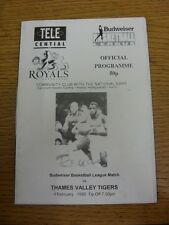 04/02/1995 Basketball Programme: Hemel Royals v Thames Valley Tigers - Hand Sign