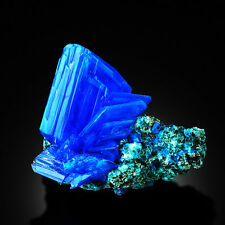 THE BEST ~XXXL~ Electric Blue CHALCANTHITE like TANZANITE on Matrix from POLAND