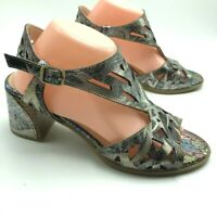 L'Artiste Spring Step Womens Sandals Calpie Ankle Strap Multi Leather 41 9.5 10