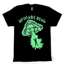Goblinko UFOS ARE REAL (Glow In The Dark) T-Shirt, Black, XL