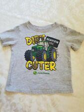 John Deere Toddler Boys Short Sleeve Tee Shirt 2T Dirt Makes Me Cuter