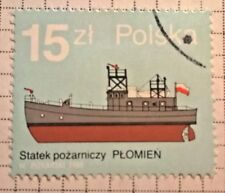 Poland stamps - 'Plomien' Fire Boat   15 Polish zloty 1988