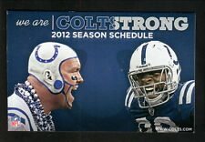 Indianapolis Colts--2012 Pocket Schedule