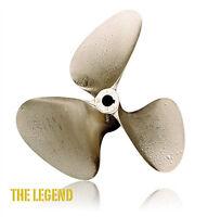 """OJ Legend 14 x 18 Inboard Propeller 3 Blade Left Hand Nibral 1 1/8"""" Shaft #1055"""