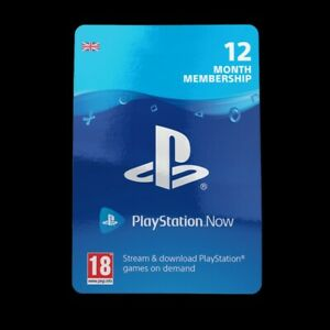 Playstation Now 12 Months Subscription Card  - UK/EU REAL CARDS