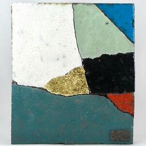 """JACOTTE CAPRON Céramique VALLAURIS Plaque Composition """"Eclats"""", picasso RARE 2/2"""