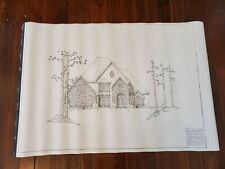 Vintage Atlanta Area House Blueprints 2 Story Architecture Building Plans
