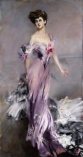 Oil giovanni boldini - portrait of mrs howard johnston nice young lady canvas