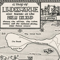 The Lindisfarne Map - Fine Art Prints by Manuscript Maps