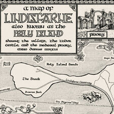 More details for the lindisfarne map - fine art prints by manuscript maps