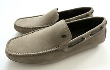 $750 BRIONI Taupe Suede Shoes Loafers Moccasins 8.5 US 41.5 Euro 7.5 UK