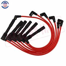 RED Spark Plug Wire Set 57055 For Volkswagen Passat Audi A4 A6 2.8L 671-6165 NEW
