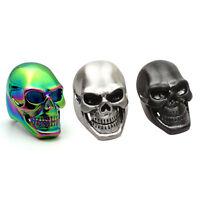 Huge Heavy Silver Stainless Steel Punk Gothic Biker Skull Men's Motorcycle Ring