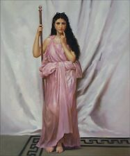 Bouguereau Young Priestess Repro, Quality Hand Painted Oil Painting, 20x24in