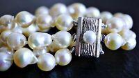 vintage Akoya Zucht Perlen Armband 835 Silber ca. 41,11 Gramm