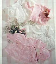 KNITTING PATTERN - BEAUTIFUL BABY SET - JACKET DRESS AND BONNET SIZES 0-2 YEARS