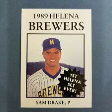 1989 Sports Pro HELENA Brewers #22 SAM DRAKE Troy ALABAMA Baseball Card