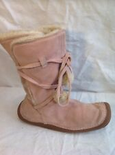 Clarks Pink Mid Calf Suede Boots Size 5.5