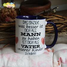 Tasse / Das Einzige Mann - Vater -BLAU- / Geschenk Vatertag Weihnachten