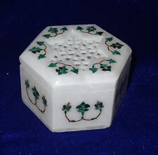 Marble Malachite Antique Jewelry Box  Pietra Dura Mosaic Shopping  Best Gifts