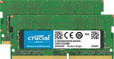 32GB Crucial DDR4 SO-DIMM 2666MHz PC4-21300 CL19 1.2V Dual Memory Kit (2 x 16GB)