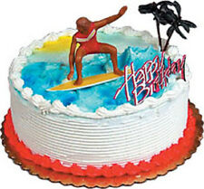 Surfing Cake Decorating Kit Decoration Topper Birthday Party Supplies Surfer Bea