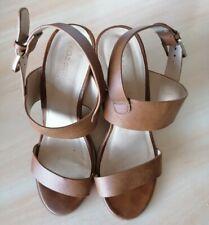 Dune head over heels brown sandals size 5