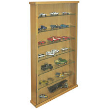 Wall Display Collectors Cabinet With Six Glass Shelves - Oak 3325OC