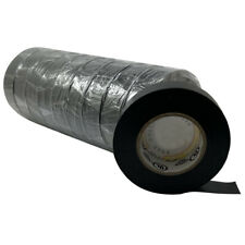 """Black Electrical PVC Insulating Tape 3/4"""" x 60 FT - 10 Roll Sleeve - UL Listed"""