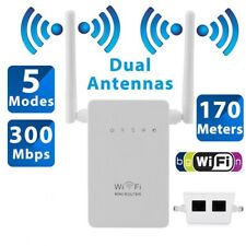300Mbps Wifi Repeater Wireless-N Range Extender Signal Booster For Router Modem