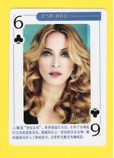 MADONNA Model Movie Film TV Pop Star Playing Card