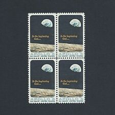 Apollo 8 Space Mission  - Vintage Mint Set 4 Stamps 50 Years Old!