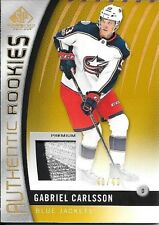 17/18 SP Game Used Gold Spectrum Gabriel Carlsson 3 Color Rookie Patch #41/49