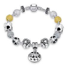 Lau-Fashion Argent 925 Femmes supplie Bracelet chaîne breloques or pendentif cœur