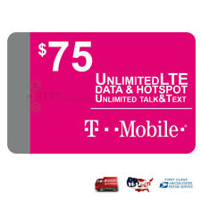 🔥First Month $75 T-Mobile One Unlimited 4G Lte Plan Preloaded Prepaid Sim Car🔥