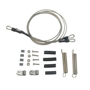 Steel Rope w/ Spring for 1/10 RC Traxxas TRX-4 D90 SCX10 D110 Car Crawler