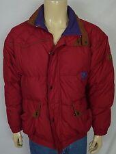 Vtg Daunen Space Red Puffer Ski Winter Jacket Men s Sz Small Duck Down Zip  Front 18f3eb9146