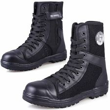 Mens Canvas Leather Breathable Military Tactical Army Combat Boots Outdoor Shoes