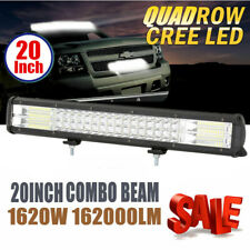 1pc 20 Inch Quad Row LED Work Light Bar Combo Offroad Driving Lamp Trucks Boat