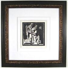Untitled (Abstract Still Life) By Hans Burkhardt 1971 Signed Linoleum Print