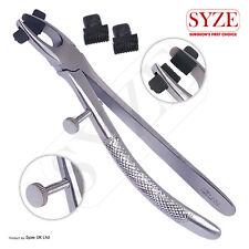 Syze ORTO Dental Crown Rimozione Pinze con 2 EXTRA durevole in gomma Punte Sottili