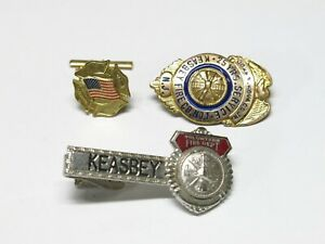 Vintage Fire Department Pin / Badge Lot