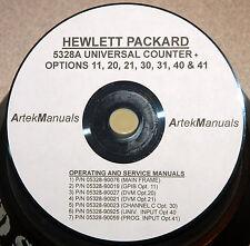 HP 5328A  + OPTIONS  *SERVICE MANUALS*  (8 VOLUME SET)