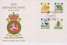 Unaddressed Isle of Man First Day Cover FDC 1978 Definitive Issue 20p-£1