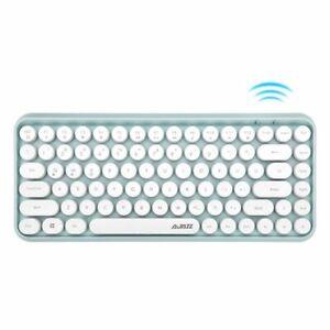 Retro Wireless Mechanical Keyboard Bluetooth Round Keycaps Keyboard For Mac HP