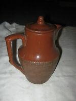 An Early Brown Glaze Bendigo Pottery 1 1/2 pint Coffee Pot