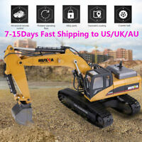 HUINA 1580 1:14 23CH Electric Full Metal Excavator 3in1 RC Engineering Vehicle j