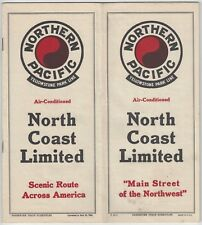 1943 Northern Pacific Railroad Timetable - Yellowstone Park Line Limited